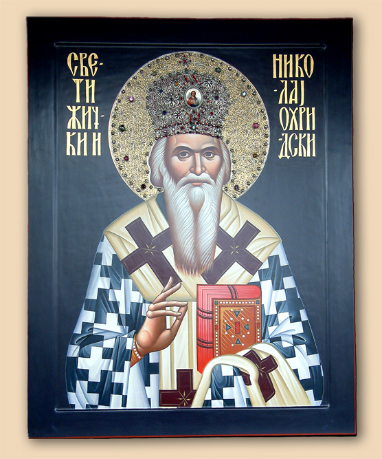 "Icon of ""St. Nikolai of Serbia."""